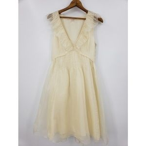 New Rebecca Taylor Ivory Silk Dress